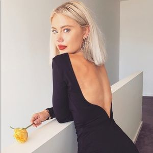 Lulu's Va Va Voom backless little black dress